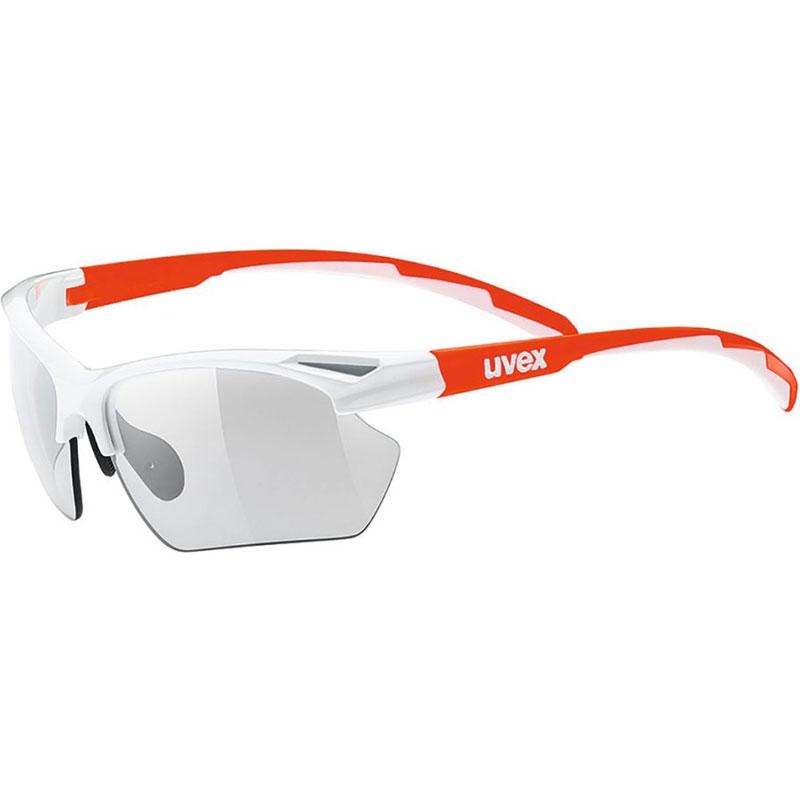 ウベックス スポーツスタイル 802 v small ホワイトオレンジ サングラス(調光レンズ)