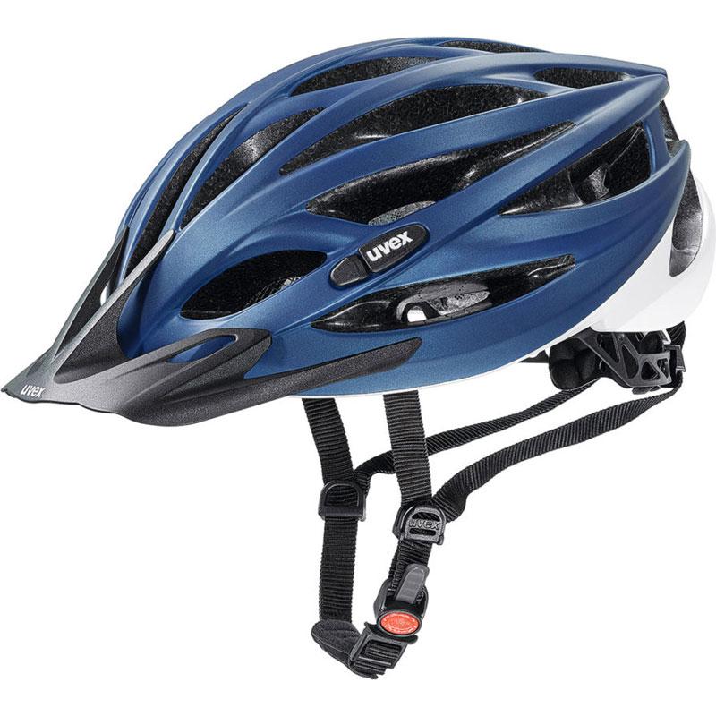 ウベックス OVERSIZE ブルー/ホワイトマット ヘルメット