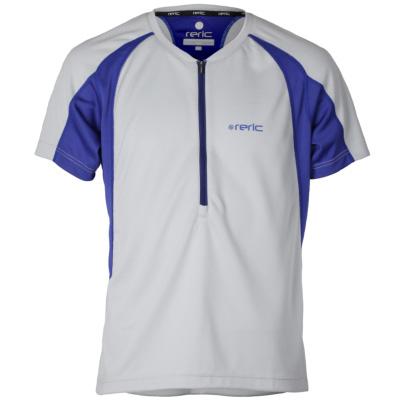 レリック ハーフジップTシャツ ライトグレー