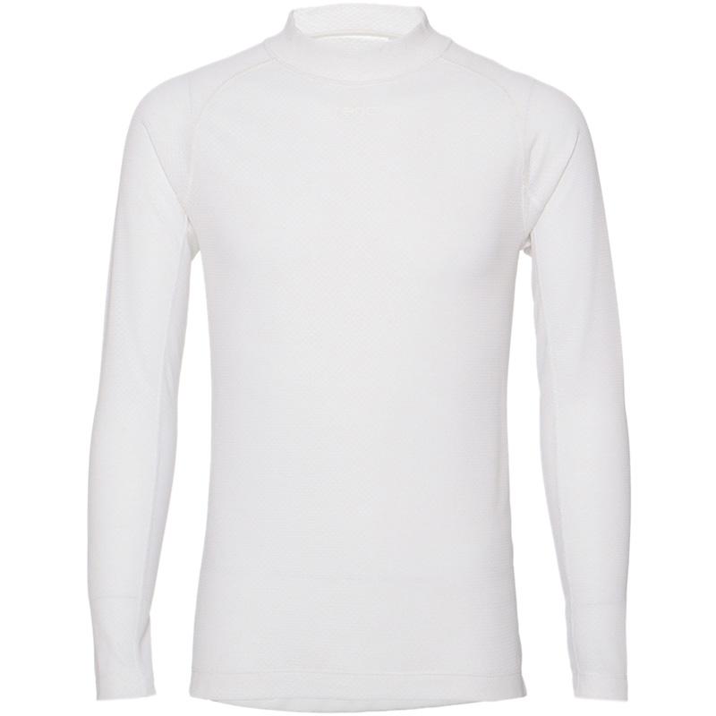 レリック セミフィット モックネック ロングスリーブ Tシャツ ホワイト