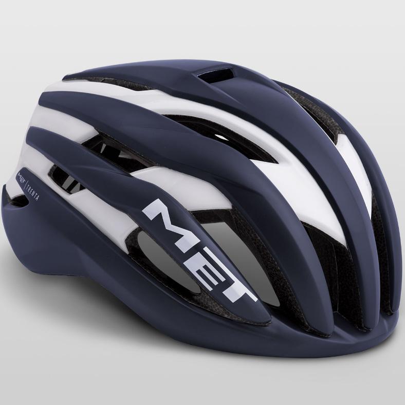 メット トレンタ ディープブルーホワイト ヘルメット
