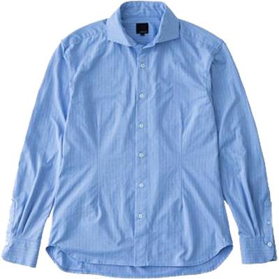 レリック ヘリンボンシャツ サックス