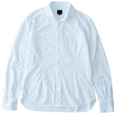 レリック ヘリンボンシャツ ホワイト
