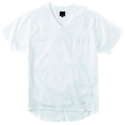 レリック VネックポケットTシャツ ホワイト