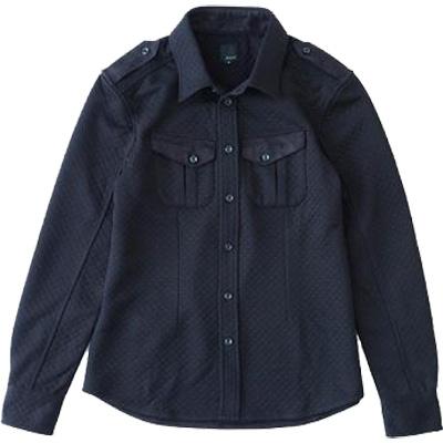 レリック キルトシャツ ブラック