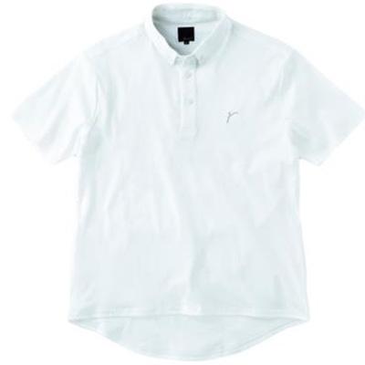 レリック ボタンダウンポロシャツ ホワイト