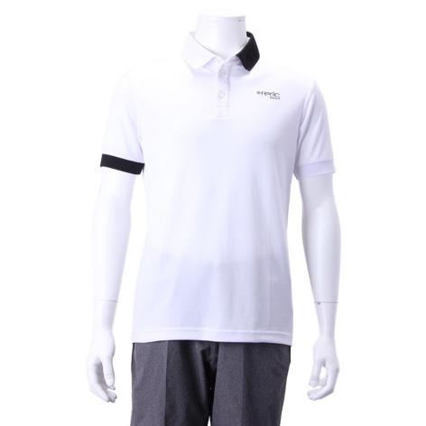 レリック UV ドライタッチ 半袖ポロ ホワイト