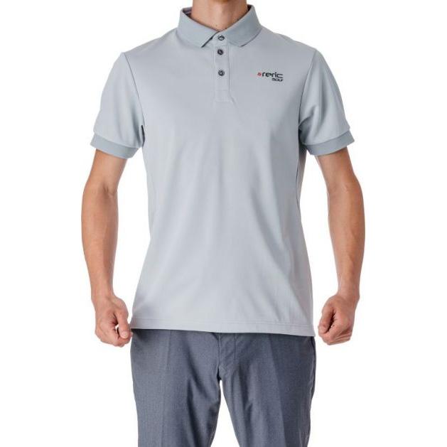 レリック UV吸水速乾 半袖ポロシャツ グレー