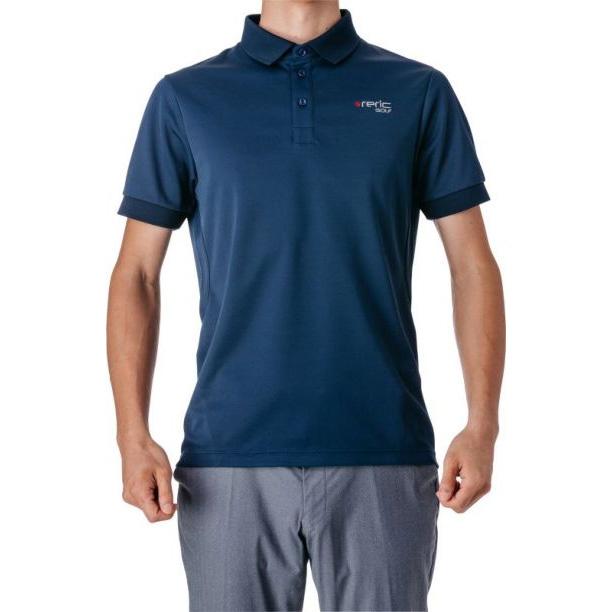 レリック UV吸水速乾 半袖ポロシャツ ネイビー