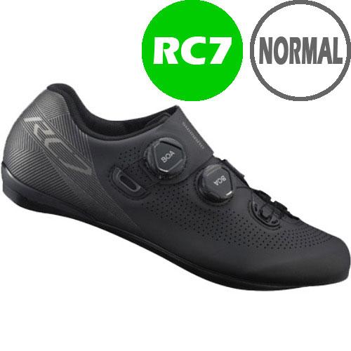 シマノ RC7(SH-RC701) ブラック ノーマルタイプ SPD-SL シューズ BOA
