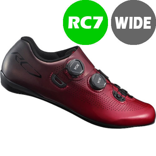 シマノ RC7(SH-RC701) レッド ワイドタイプ SPD-SL シューズ BOA