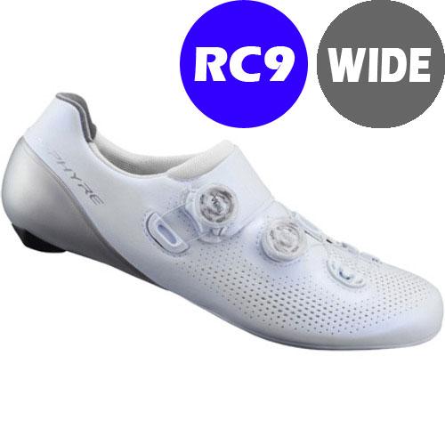 シマノ RC9(SH-RC901) ホワイト ワイドタイプ SPD-SL シューズ BOA