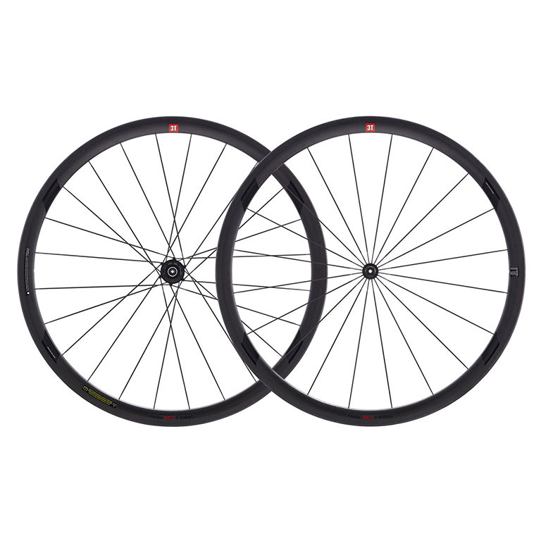 【現品特価】3T ORBIS2 C35 TEAM STEALTH 700C クリンチャー シマノ用 前後セット ホイール【自転車】【ロードレーサーパーツ】