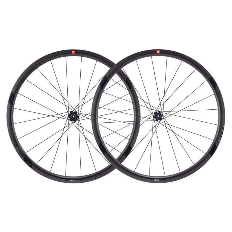 3T DISCUS C35 LTD STEALTH 700C クリンチャー シマノ用 前後セット【自転車】【ロードレーサーパーツ】