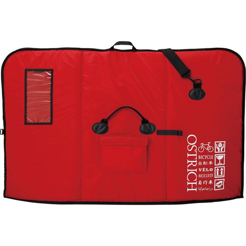 【急行】【輪行マニュアルプレゼント】オーストリッチ OS-500 トラベルバッグ レッド