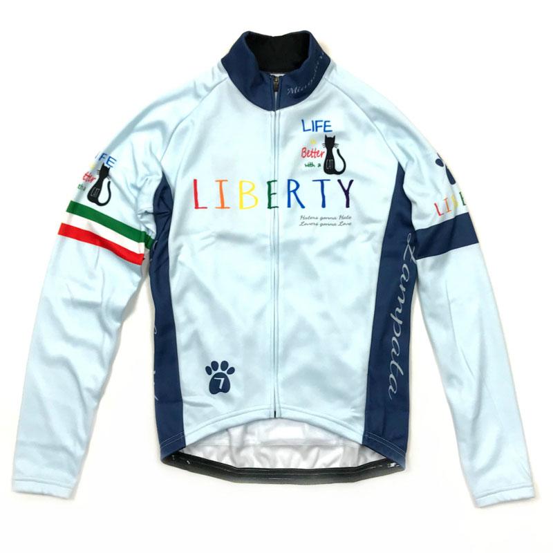 【現品特価】セブンイタリア Liberty Cat LS Jersey スカイ