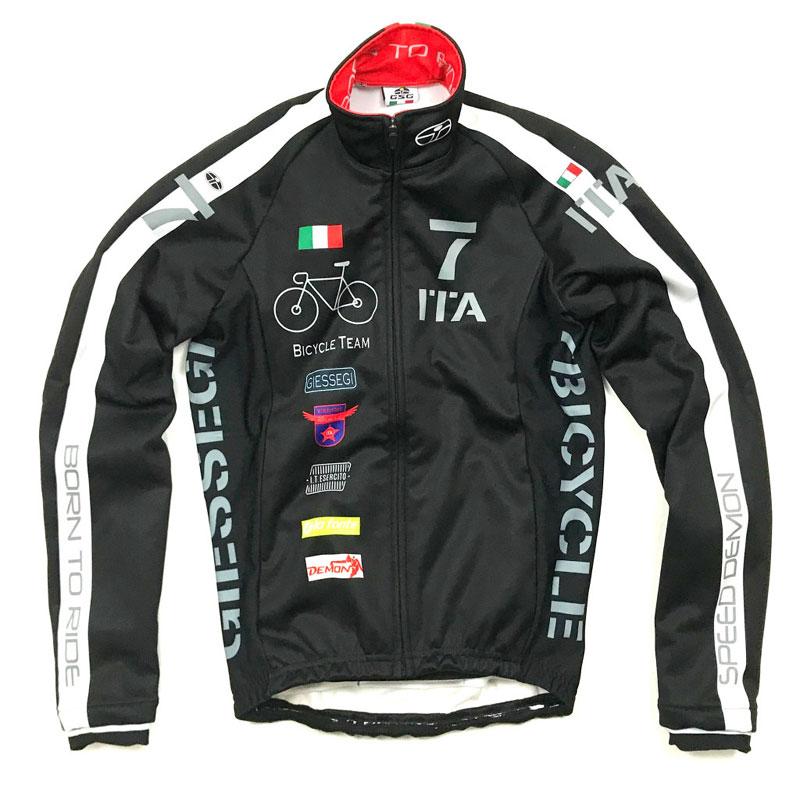 セブンイタリア Neo Army Bike Team Jacket ブラック