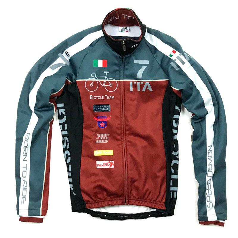 セブンイタリア Neo Army Bike Team Jacket ネイビー/レッド