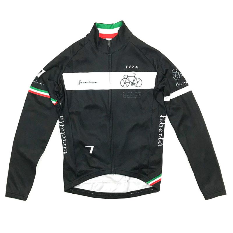 セブンイタリア Neo Freedom Bicycle LS Jersey ブラック