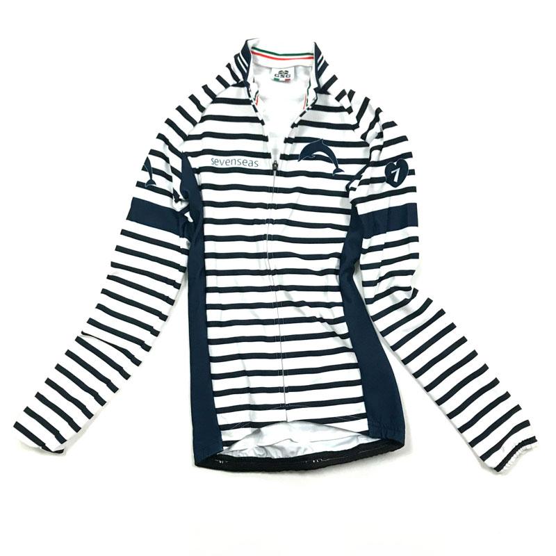 セブンイタリア Sevenseas Stripe Lady LS Jersey ホワイト/ネイビー