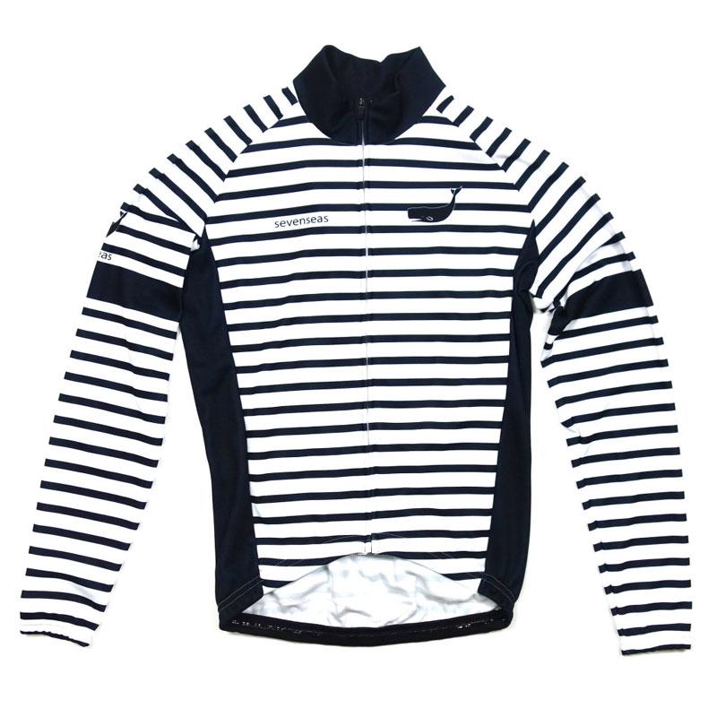【現品特価】セブンイタリア Sevenseas Stripe LS Jersey ホワイト/ネイビー