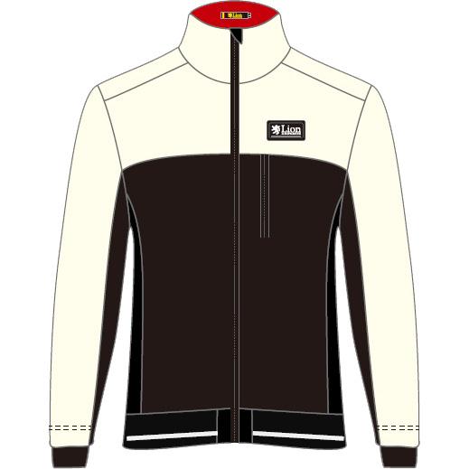 リオン・ド・カペルミュール フレックスサーモジャケット アイボリー×ブラック