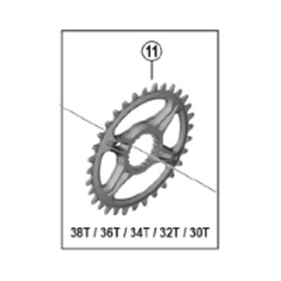 [11]チェーンリング 36T (SM-CRM95)