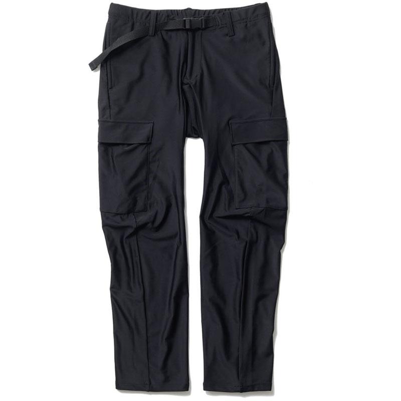 ステムデザイン ナイロンジテツウパンツ(くるぶし丈)サイクルパンツ ナイロンスパンデックス ぺダリングパンツ ブラック