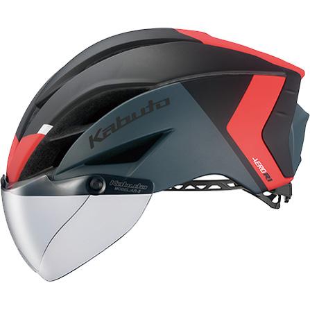 OGKカブト エアロ-R1(AERO-R1) G-2 マットブラックレッド ヘルメット