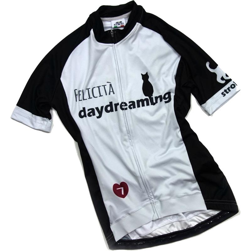 セブンイタリア Daydreaming Cat レディース Jersey グレー/ブラック