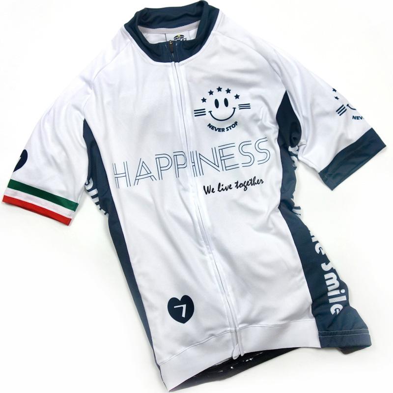 セブンイタリア Happiness Smile III レディース Jersey ホワイト/ネイビー