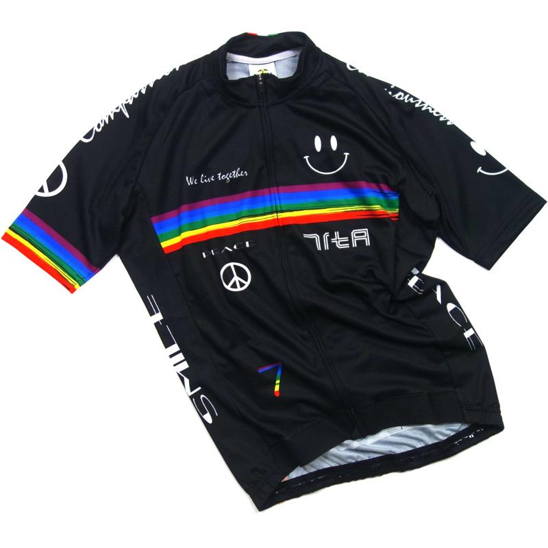 セブンイタリア Rainbow Smile II Jersey ブラック