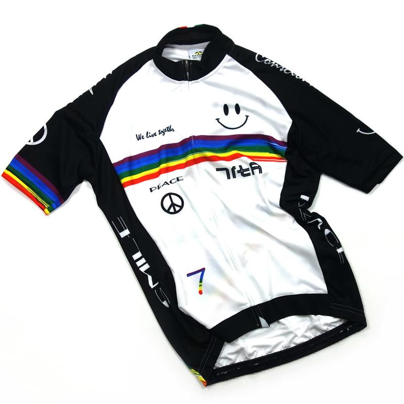 セブンイタリア Rainbow Smile II Jersey ホワイト/ブラック
