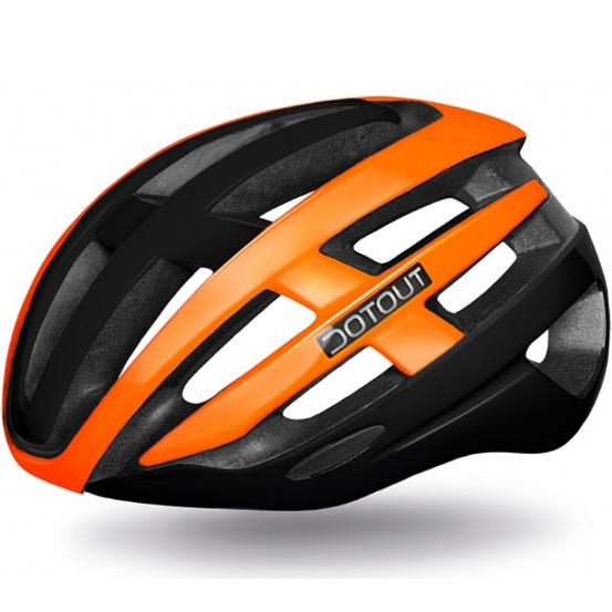 【特急】ドットアウト TARGA(タルガ) 12.マットブラック/シャイニーオレンジ ヘルメット