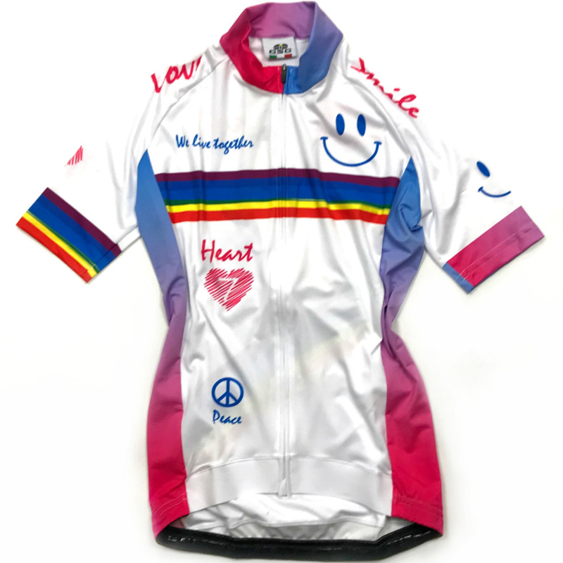 セブンイタリア Rainbow Smile レディース Jersey ホワイト