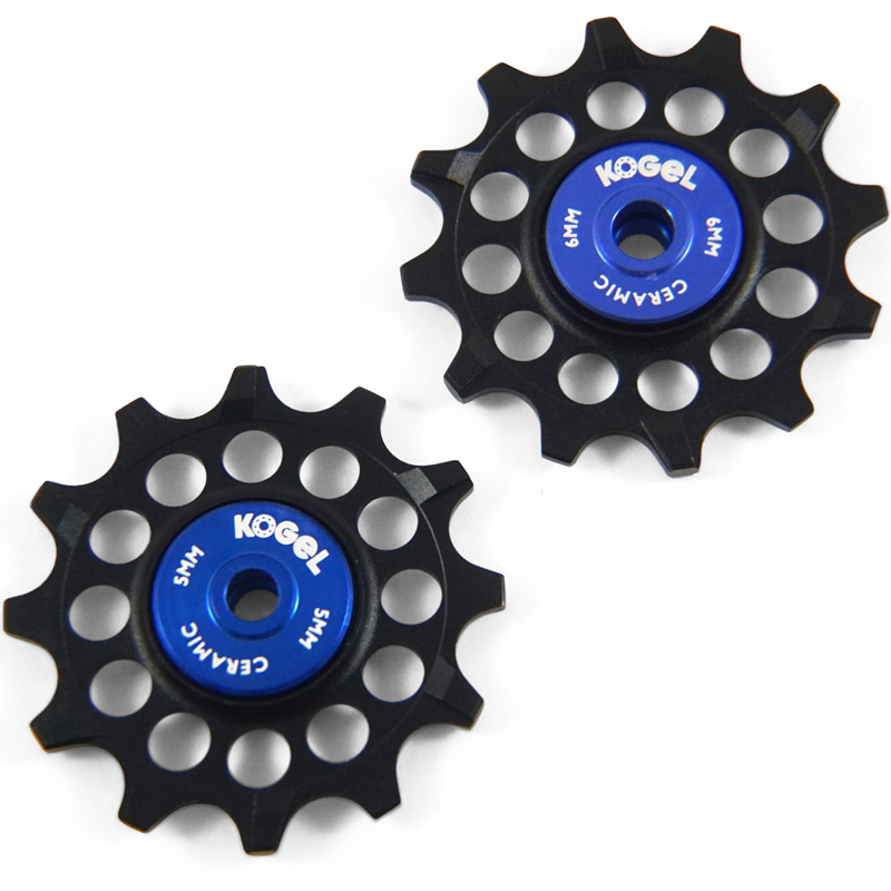 コゲル 12T narrow wide pulleys for Sram and Shimano MTB ブルー/ブラック
