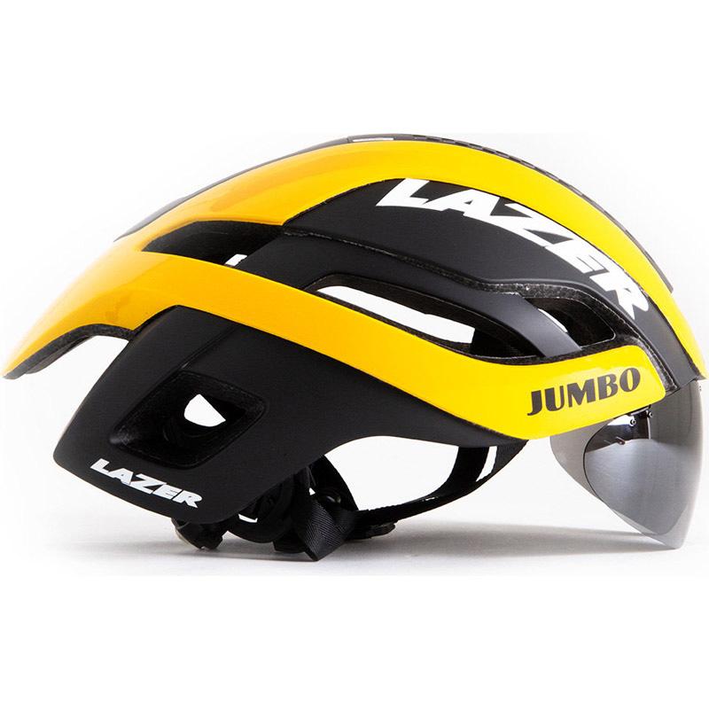 【代引不可】シマノレイザー バレット 2.0 AF アジアンフィット Jumbo-Visma レンズ、LEDテールライト付属 ヘルメット LAZER レーザー
