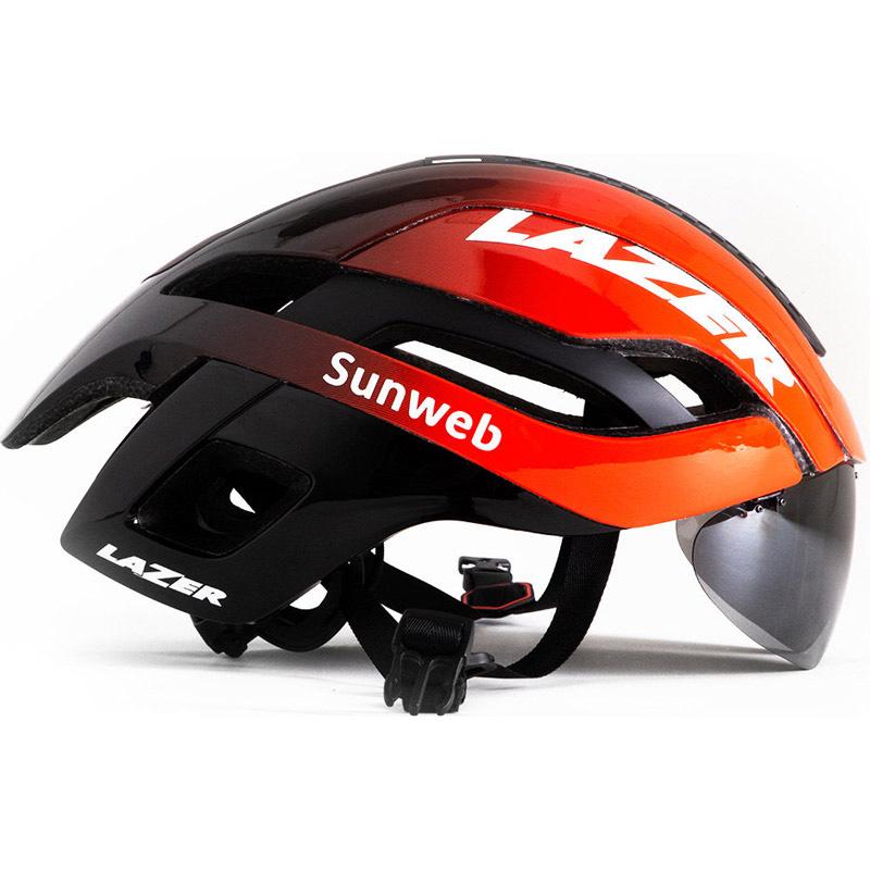 【代引不可】シマノレイザー バレット 2.0 AF アジアンフィット Sunweb レンズ、LEDテールライト付属 ヘルメット LAZER レーザー
