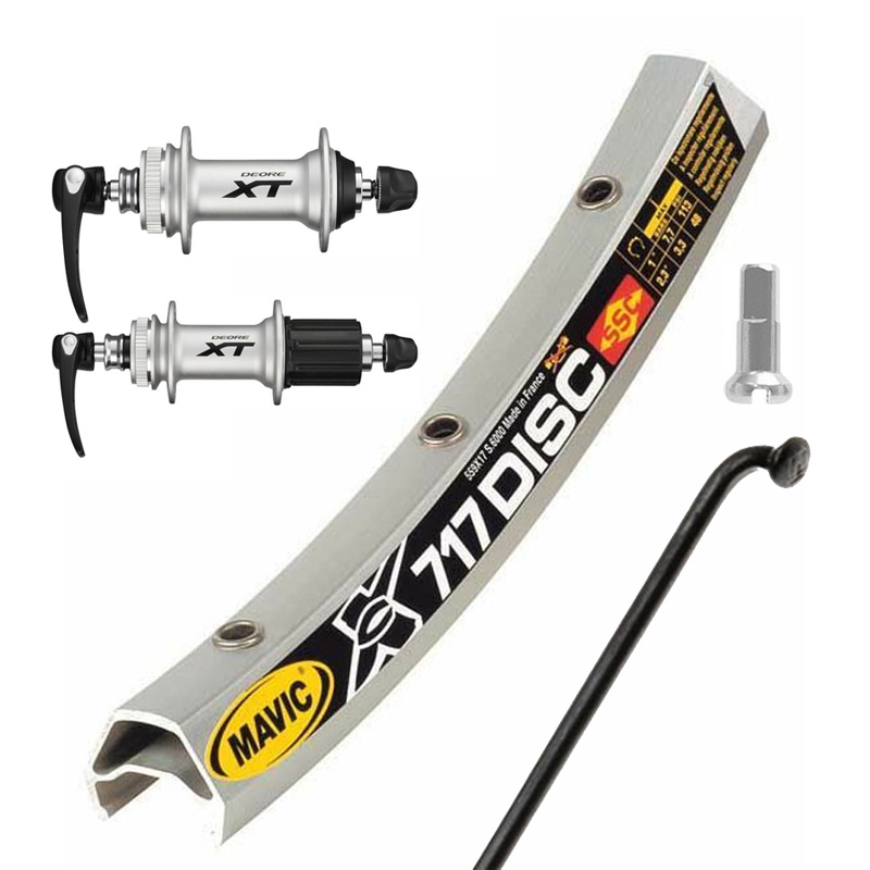 【現品特価】オリジナルホイール ディスク26MTB 前後セット XT(M785)/シルバー HB-M785 FH-M785 EX721 32H/シルバー 2.0mmスポーク/ブラック ブラスニップル/シルバー 8/9/10段対応