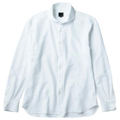 レリック シアサッカーシャツ ホワイト