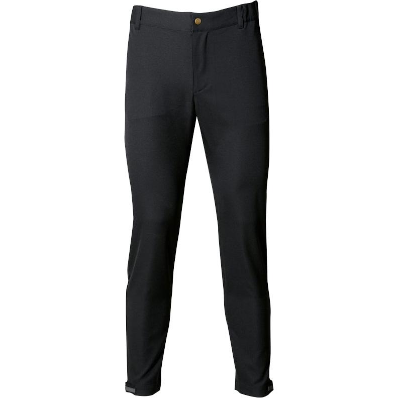 パールイズミ 【9150】テーパード バイカーズ パンツ 4.ブラック