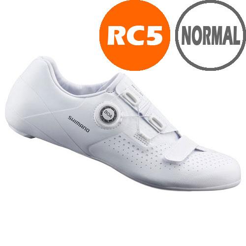 シマノ RC5(SH-RC500) ホワイト ノーマルタイプ SPD-SL シューズ