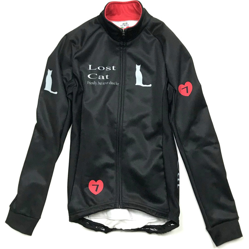 セブンイタリア Neo Lost Cat Lady Jacket ブラック/レッド レディース