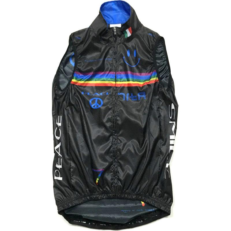 セブンイタリア Rainbow Smile 3 Gilet ブラック