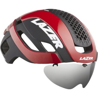 【ライフビーム付】シマノレイザー バレット 2.0 AF アジアンフィット レッド レンズ、LEDテールライト ヘルメット LAZER レーザー