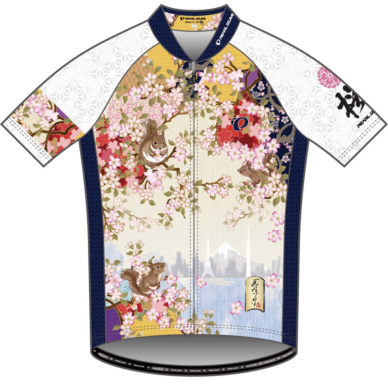 パールイズミ 【S621-B】プリントジャージ 13.桜とリス