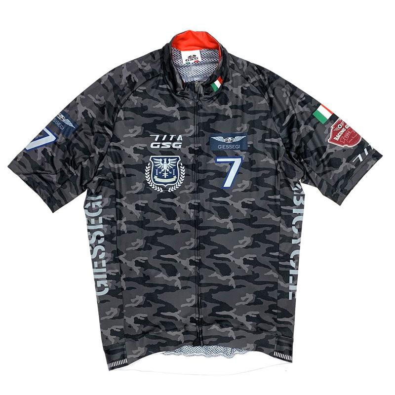 セブンイタリア Army III Jersey ブラックカモ