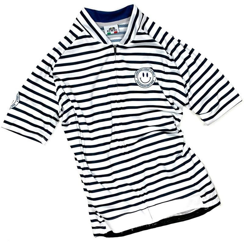 セブンイタリア Stripe Lady Jersey ホワイト/ネイビー レディース
