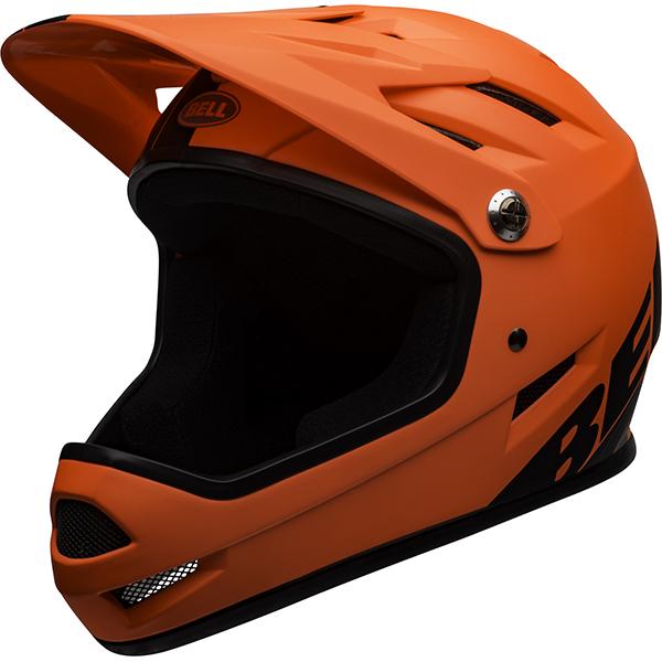 ベル サンクション マットオレンジ/ブラック ヘルメット