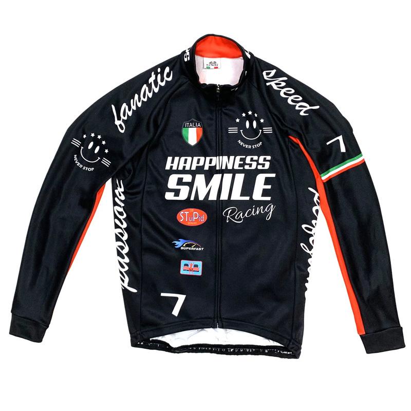 セブンイタリア Racing Smile LS Jersey ブラック